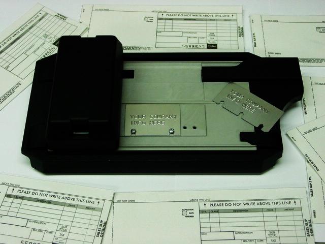 manual sales slips plastic card imprinter  ticket validator  addressograph machine